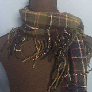 Barbour Plaid Lambswool Fringe Scarf